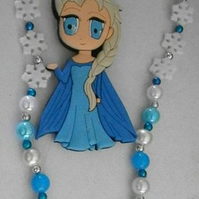 Frozen 1, Elsa or 2, Anna necklace,Cake Smash Necklace