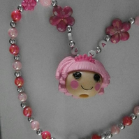 Bubblegum style lalaloopsy necklace, Cake Smash Necklace