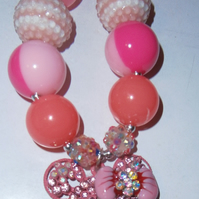 Minnie mouse crystal encrusted  necklace,  Cake Smash Necklace