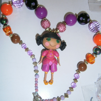 Bubblegum Lalaloopsy necklace,Cake Smash Necklace