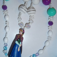 Frozen inspired Anna necklace, Cake Smash Necklace