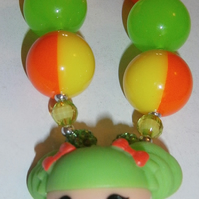 Lalaloopsy bubblegum  necklaceCake Smash Necklace,