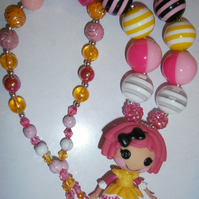 Lalaloopsy chunky  necklace,Cake Smash Necklace