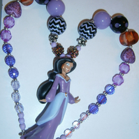 Jasmine disney princess chunky  necklace,Cake Smash Necklace