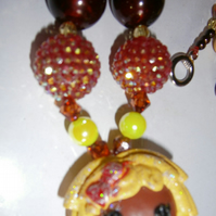 Lalaloopsy,Chunky Bubblegum Necklace, Little Girl Chunky Necklace