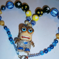 Minion,Chunky Bubblegum Necklace, Little Girl Chunky Necklace