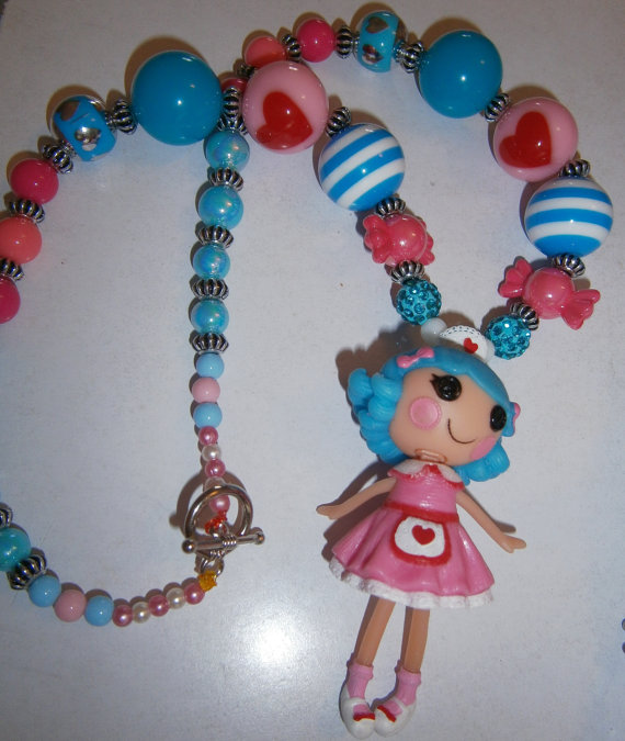 Lalaloopsy Nurse bubblegum  necklace, Cake Smash Necklace