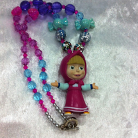 Masha And The Bear, Girls Chunky Necklace, Girls Bubblegum Necklace, CAKE SMASH