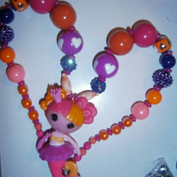 Lalaloopsy Mermaid Necklace, Chunky Bubblegum Necklace