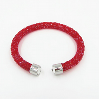 Moon  Stardust Woman,Unisex, Crystal Torque Red Faux Diamond , Stardust,