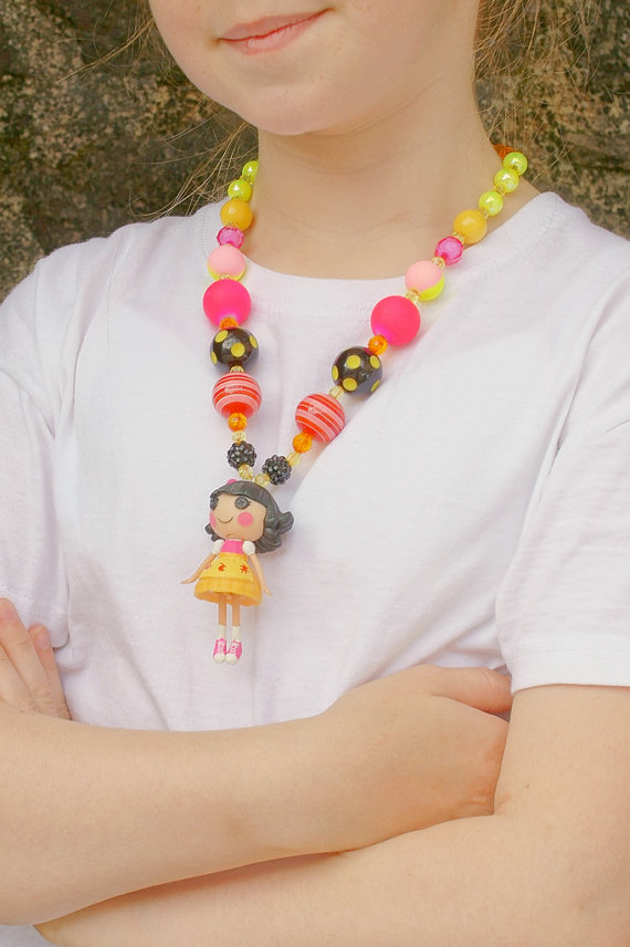Lalaloopsy, Girl Bubblegum Necklace, Kawaii Chunky Necklace
