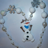 Disney, Frozen Olaf 1 or 2 Chunky Necklace, Girls Chunky Necklace