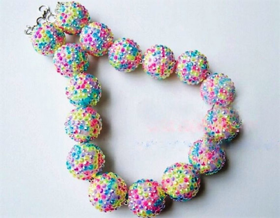 Cupcake Sprinkles ,Chunky Bubblegum Necklace, Girl Chunky Necklace,CAKE SMASH