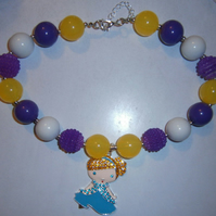 Disney,Cinderella,Chunky Bubblegum Necklace