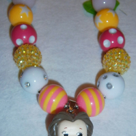 Disney,Belle,Girls Chunky Necklace,CAKE SMASH NECKLACE,