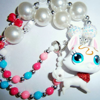 Little Pet Shop Dog Chunky Necklace, Chunky Bubblegum Necklace