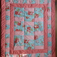 Vintage Style Handmade Floral Quilt