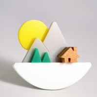 Mountain Sunset brooch