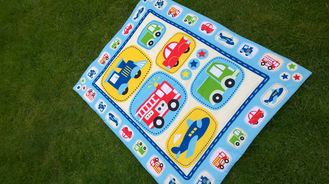 Planes, Trains and Automobiles quilt