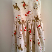Santa, Reindeer and snowmen dress 3 -  4 years
