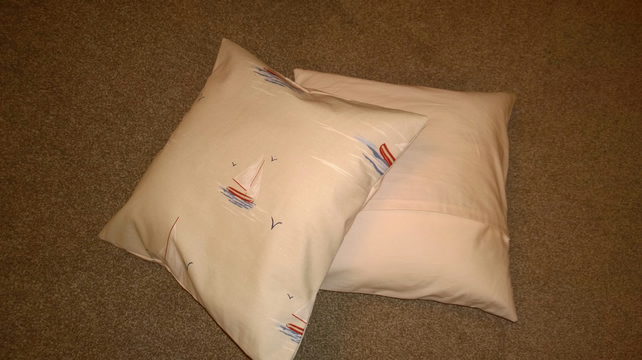 Sail Boat Cushion Cover