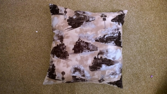 Train Cushion Cover