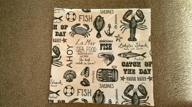 Sea Food Cushion Cover