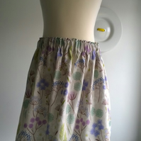 Lewis & Irene - Make A Wish - Hedgerow Flowers On Cream skirt