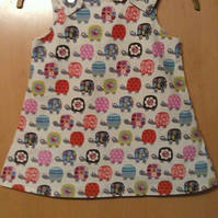 A-line tortoise dress for a 3 year old
