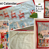 Santa Sleigh White Christmas Advent Calandar