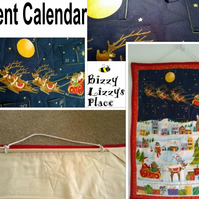 Santa Sleigh Christmas Advent Calandar