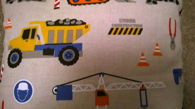 Building Site Cushion Cover .