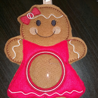 Gingerbread Girl Christmas Treat Decoration