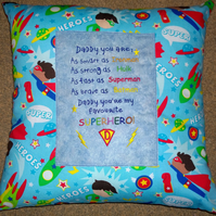 Super Dad cushion cover