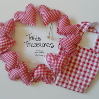 SALE Heart shaped bunting in a bag