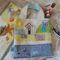 Book Bag with Seaside Theme