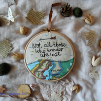 Hoop Art Travel Quote