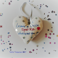 Fabric Heart with stars