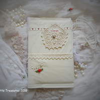 Wedding Book, Journal, Fabric Covered Notebook
