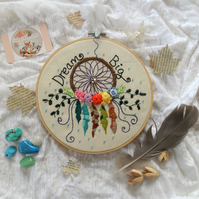 Hoop art embroidered dream catcher