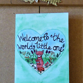 New Baby welcome to the world greeting card