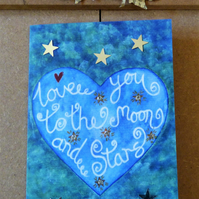 Love you to the moon and stars greeting card