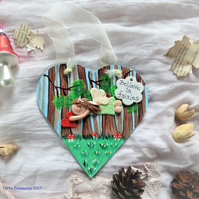 Hanging Heart with Fairy theme