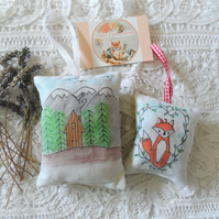 Hand painted Lavender Sachets