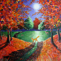 "High quality Art card ""Enchanted Autumn """