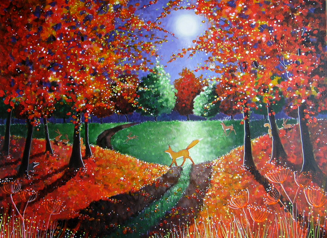 Autumn Moonlight Fine Art Giclee Print