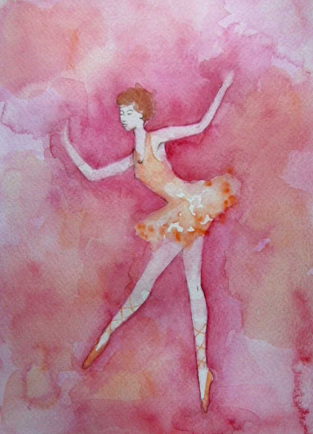 Ballet Dancer high quality art card from original painting by Angie Livingstone