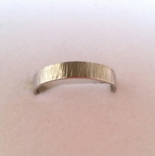 Band Stacking Ring sterling silver handmade UK Designer ChaByDesign