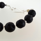 Lava Bracelet sterling silver handmade jewellery UK big round beads