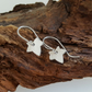 Leaf  Earrings sterling silver handmade jewelery Designer UK